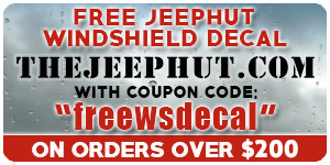 Free Windshield JeepHut Decal!